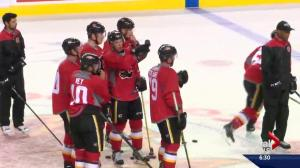 Calgary Flames begin on ice sessions